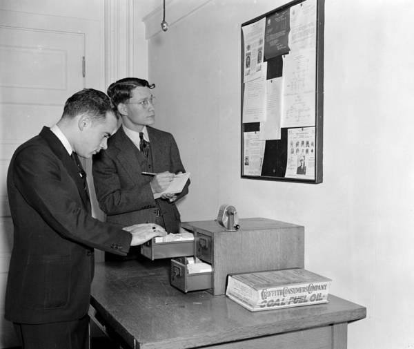 Notice Board Photograph - Secret Service Agents, 1938 by Granger
