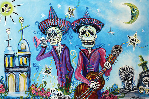 Wall Art - Painting - Secrets Of The Mariachi by Laura Barbosa