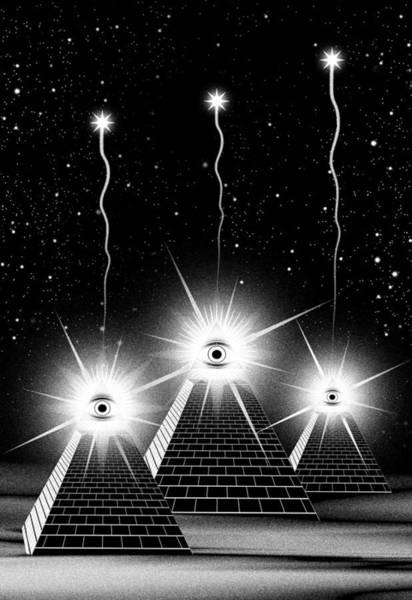 Orion Digital Art - Secrets Of The Pyramids by Filippo B