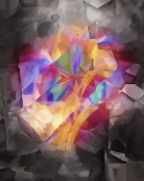 Cubic Wall Art - Painting - Secretscape Artisan by Lutz Baar