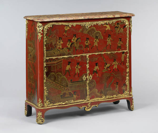 Drawers Painting - Secrétaire Jacques Dubois, French, 1694 - 1763 by Litz Collection