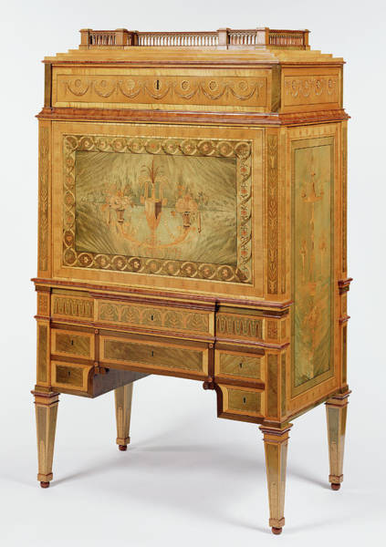 Drawers Painting - Secrétaire Unknown Maker, Northern European Northern by Litz Collection