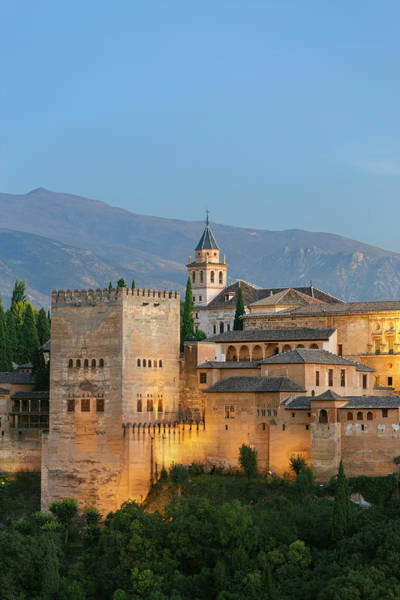 Granada Wall Art - Photograph - Section Of The Alhambra Palace by Guy Vanderelst