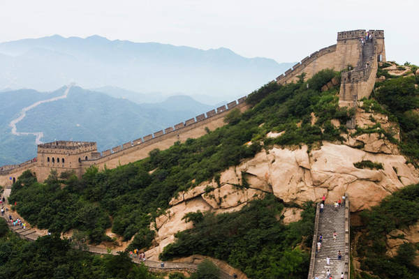 Elm Tree Photograph - Section Of The Great Wall, Badaling by Greg Elms