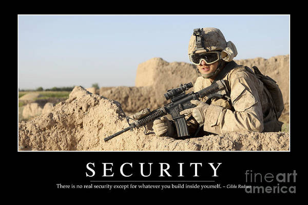 Photograph - Security Inspirational Quote by Stocktrek Images