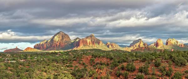 High Dynamic Range Imaging Photograph - Sedona, Arizona And Red Rocks Panorama by Picturelake