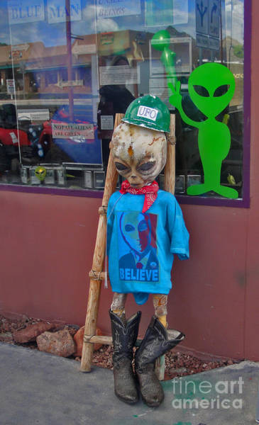 Photograph - Sedona Arizona Grey Alien by Gregory Dyer