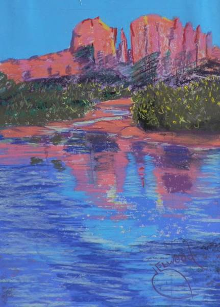 Elwood Blues Painting - Sedona Reflections by Jann Elwood