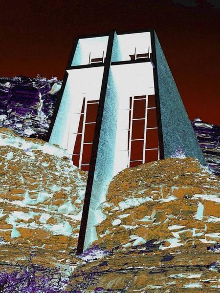 Sedona Rock Church Art Print
