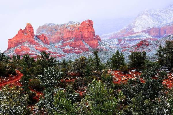Photograph - Sedona Snow by Walt Sterneman