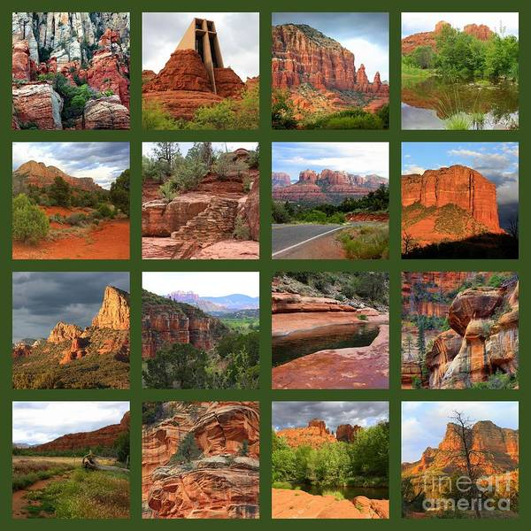 Red Rocks Of Sedona Photograph - Sedona Spring Collage by Carol Groenen