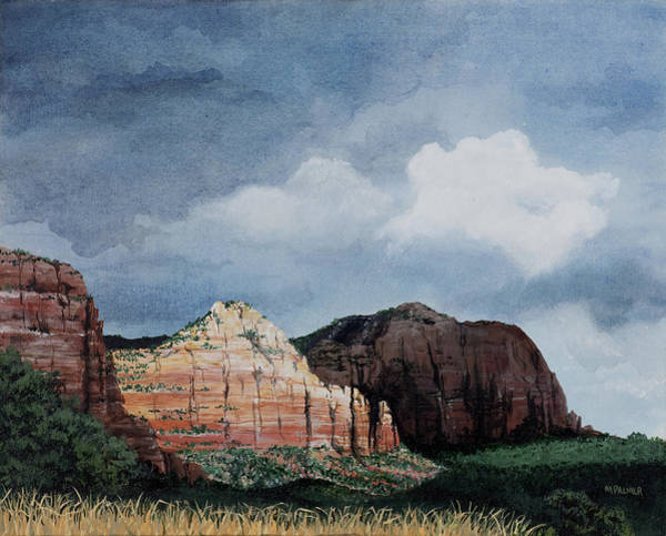 Painting - Sedona Storm by Mary Palmer