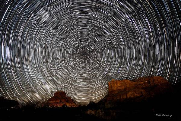 Star Trails Photograph - Sedona Trails by Bill Cantey