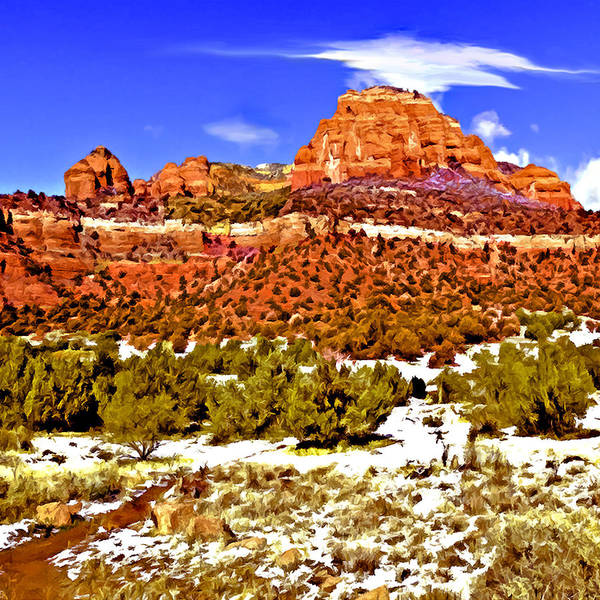 Painting - Sedona's Secret Wilderness by Bob and Nadine Johnston