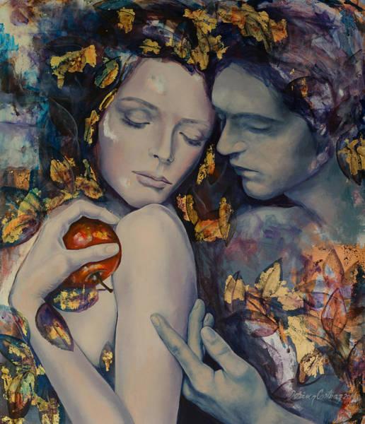 Wall Art - Painting - Seduction by Dorina  Costras