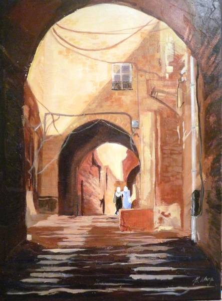 Painting - Seducive Arches by Betty M M Wong