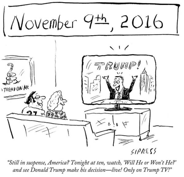 2016 Election Drawing - See Donald Trump Make His Decision by David Sipress