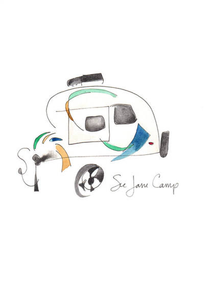 Painting - See Jane Camp by Anna Elkins