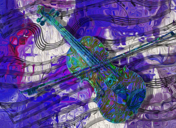 Musical Instrument Painting - See The Sound 3 by Jack Zulli