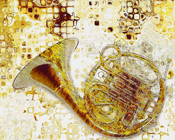 Gold Painting - See The Sound by Jack Zulli