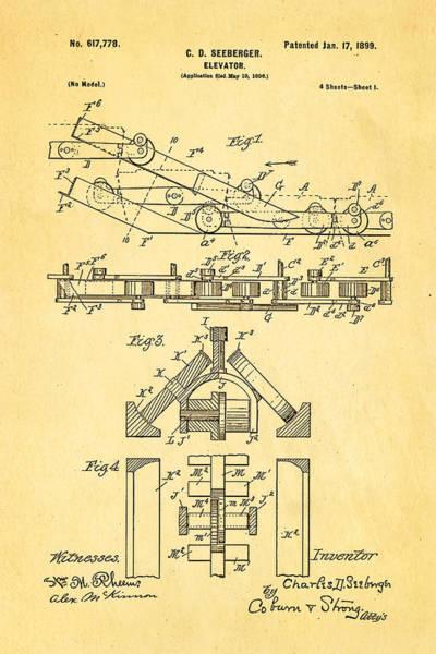 1899 Photograph - Seeberger Escalator Patent Art 1899 by Ian Monk