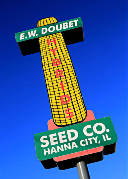 Wall Art - Photograph - Seed Company Sign 1.4 by Stephen Stookey