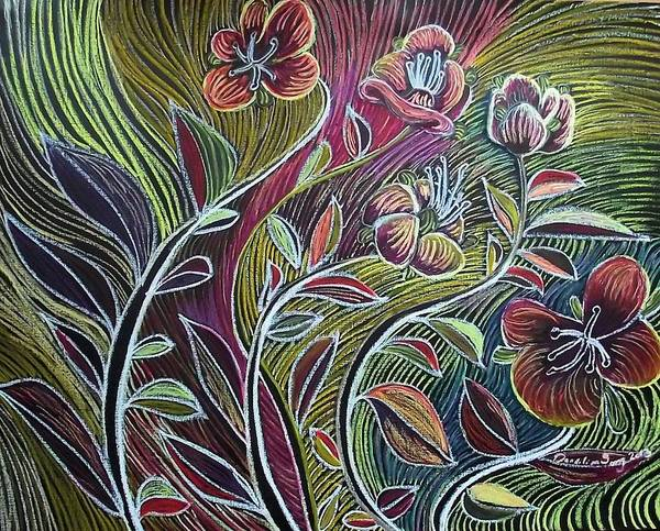 Oil Pastels Drawing - Seeing by Dandilion Song