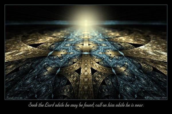 Digital Art - Seek The Lord by Missy Gainer