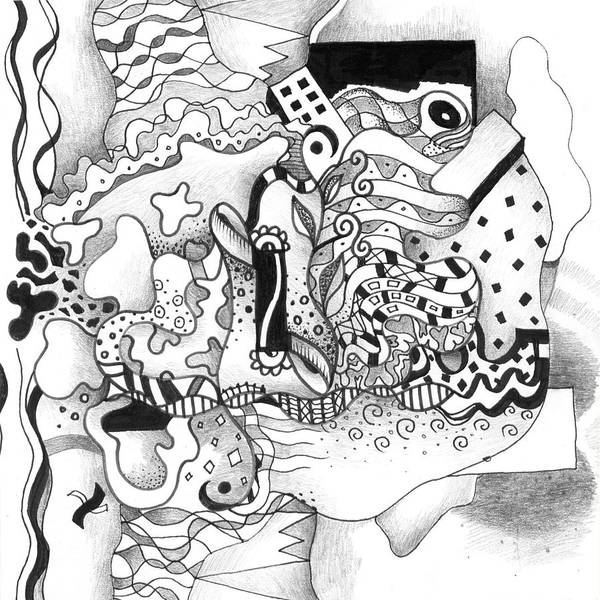 Drawing - Seeking Solutions by Helena Tiainen