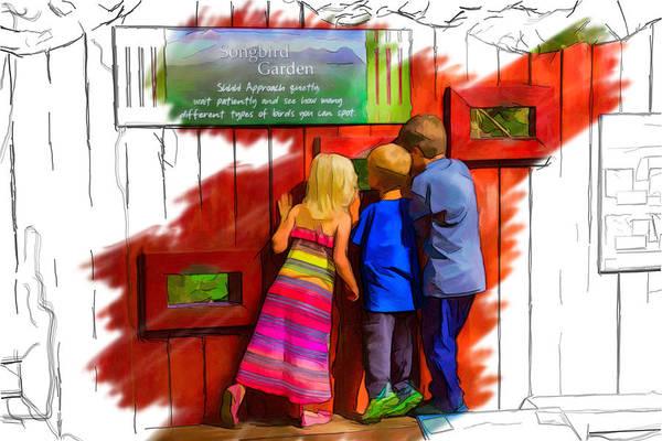 Asheville Mixed Media - Seeking Songbirds by John Haldane