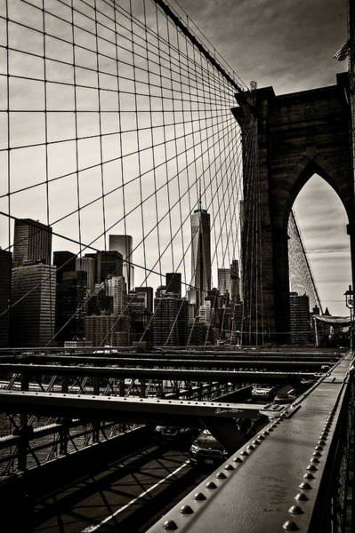 Wall Art - Photograph - Seen Through The Brooklyn Bridge by Madeline Ellis