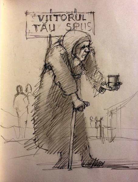Seer Wall Art - Drawing - Seer by H James Hoff