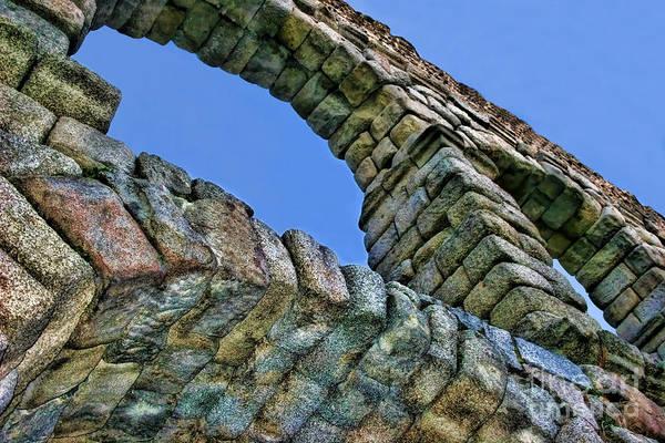 Photograph - Segovia Aqueduct Arch By Diana Sainz by Diana Raquel Sainz