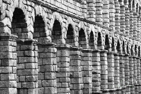 Photograph - Segovia Aqueduct by James Brunker