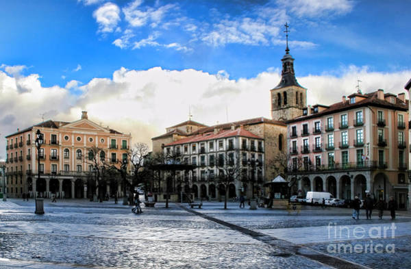 Photograph - Segovia Town Square By Diana Sainz by Diana Raquel Sainz