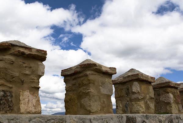 Photograph - Segovia Wall Against Blue Sky by Lorraine Devon Wilke