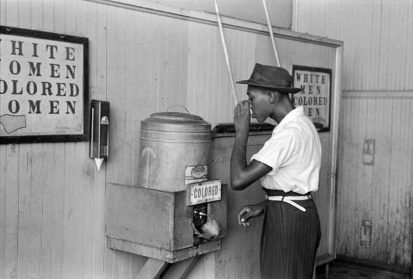 Wall Art - Photograph - Segregated Drinking Cooler by Russell Lee