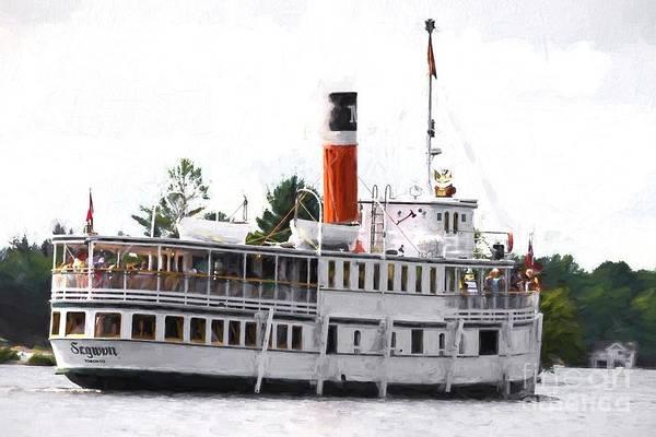 Photograph - Segwun Steamboat - Painterly by Les Palenik
