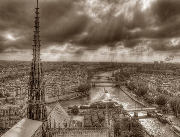 Photograph - Seine From Notre Dame by Michael Kirk