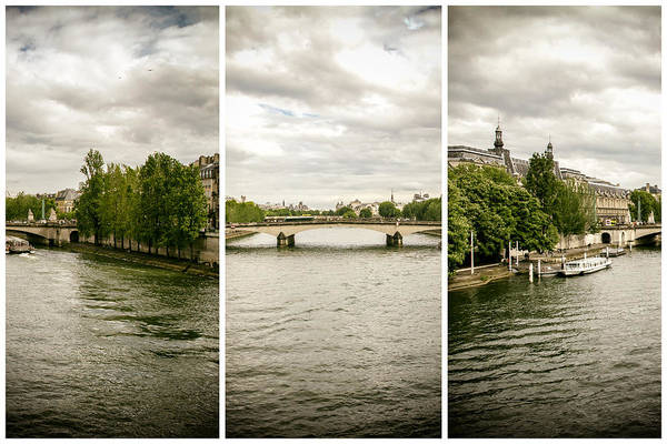 Reborn Wall Art - Photograph - Seine Triptych by Georgia Fowler