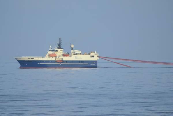 Photograph - Seismic Ship Western Neptune by Bradford Martin
