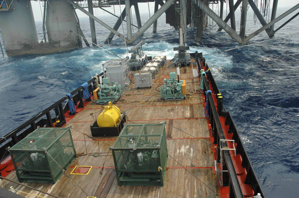 Photograph - Seismic Testing At Oil Rig by Bradford Martin
