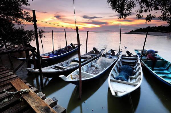Side-by-side Photograph - Sekinchan Fisherman Docks by Nazarudin Wijee