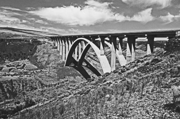 Shotwell Digital Art - Selah Creek Bridge by Seth Shotwell