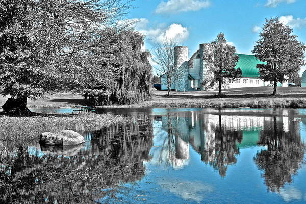Wall Art - Photograph - Selective Color Fall Day by Frozen in Time Fine Art Photography