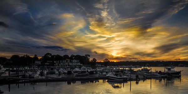 Selective Color Sunset - Mystic River Art Print