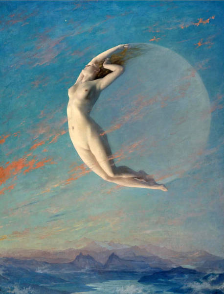 Wall Art - Painting - Selene by Albert Aublet