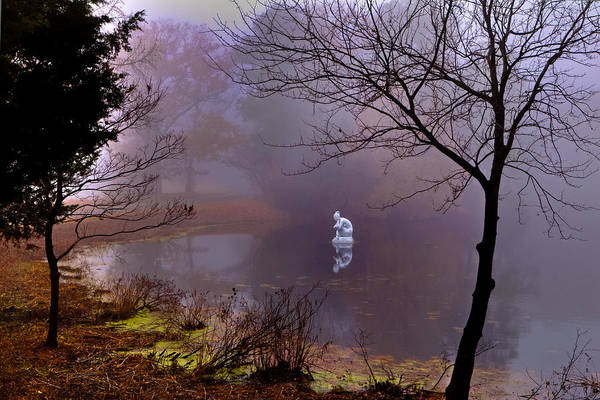 Photograph - Selene Moon Goddess Fogged In by Jerry Gammon