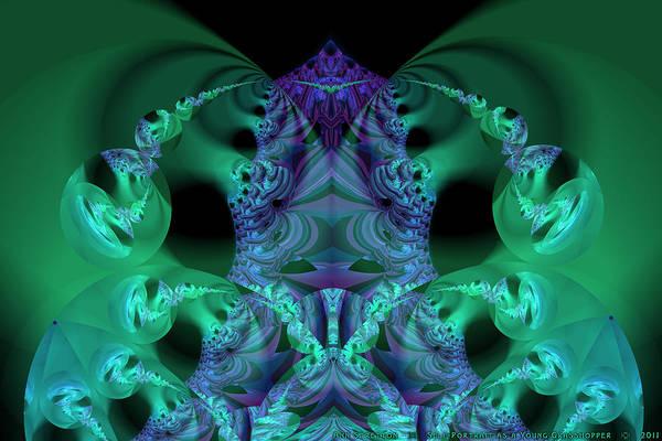 Digital Art - Self Portrait As A Young Grasshopper  by Ann Stretton