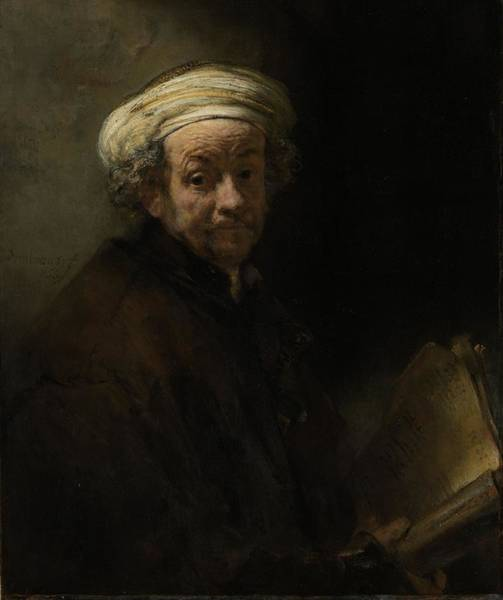 Impasto Photograph - Self Portrait As The Apostle Paul, 1661 Oil On Canvas by Rembrandt Harmensz. van Rijn